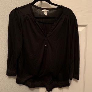 H&M Classic Three Button Henley Shirt